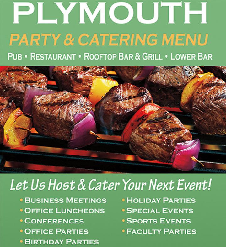 Plymouth Party & Catering Menu